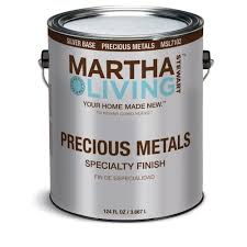 martha stewart living paint colors: hello can the martha stewart living quotprecious metalsquot paint color be changed to match any wall the can says silver semi gloss finish