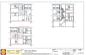 Modern House Plans by Gregory La Vardera Architect  Cube    We are trying to leverage the work already done in the d model now by exporting the base lines for the section drawings directly from the d model