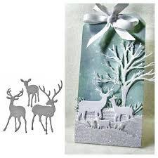 <b>Julyarts</b> Christmas deer Stencil Metal <b>Cutting Dies Cut</b> Practice ...