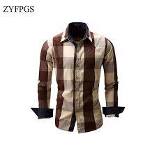 <b>2019 ZYFPGS</b> 2018 New <b>Autumn</b> Mens Hip Hop Plaid <b>Top</b> Shirts ...
