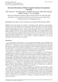 Numerical Simulation of <b>Electromagnetic</b> Actuator for Impedance ...