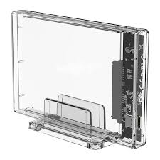 <b>Transparent Series</b> 2.5 inch 10Gbps Hard Drive Enclosure with Stand