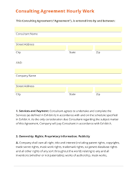 consulting agreement hourly work template consulting agreement hourly work