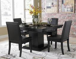 stylish brilliant dining room glass table:  brilliant black dining room table set contemporary black dining table chairs and dining room sets for stylish