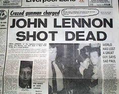 「1980, John Winston Ono Lennon, MBE assassinated」の画像検索結果