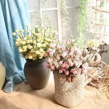 8pcs Artificial PE Foam <b>rose</b> field grass spray floral fillers for floral ...