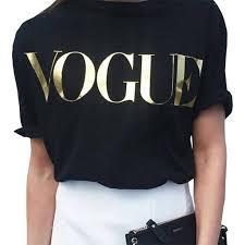 T shirt women tshirt <b>2019</b> new vintage <b>vogue</b> letter print women ...