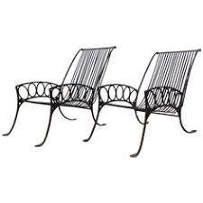 pair of french art deco iron chairs art deco outdoor furniture
