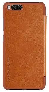 Купить <b>Чехол</b>-<b>книжка Nillkin QIN для</b> Xiaomi Mi6 коричневый по ...