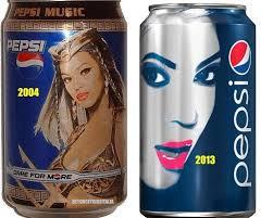 Beyonce 2004 Pespi Can vs Beyonce 2013 Pepsi Can