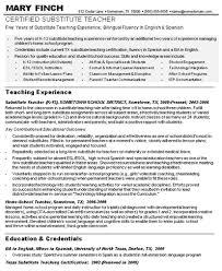 substitute teacher resume sample   resumeseed comgallery of  substitute teacher resume sample