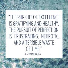 The pursuit of excellence is gratifying and heathy, the pursuit of ...