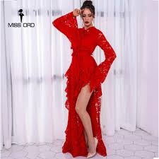 Missord 2020 <b>Women Sexy</b> Off Shoulder Mesh Long Dresses ...