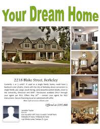 real estate flyers  flyer flyer templates your dream home flyer