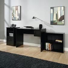 Mainstays <b>3</b>-<b>Piece</b> Desk and Bookcase Office Set, <b>Black</b> Finish ...