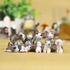 <b>Kawaii 9pcs Chi The</b> Cat Small Figure 3cm Micro Landscape Small ...