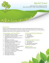 high school resume template samples     lawn care gardening job application