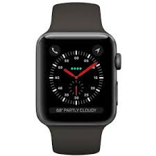 умные часы Apple Watch S3 38mm Space <b>Gray</b> Sport Band <b>Black</b>
