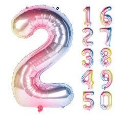 New 40 Inch Rainbow Digit Helium Foil Birthday Party ... - Amazon.com