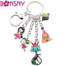 Bonsny <b>Enamel Alloy</b> Child's Fairy Tale Princess Queen Cat Bird ...
