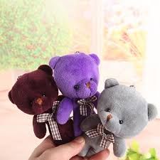 <b>12cm</b> Mini <b>Kawaii</b> B aby Plush Bear Toys key chain with soft Stuffed ...