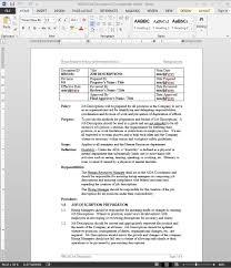 job descriptions procedure hr job descriptions procedure