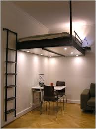 apartment idea filled sophisticated space saving loft bed with lights feat unique desk design best space saving furniture