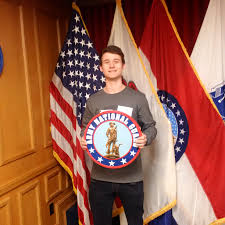 illinois national guard pvt jake roustio of granite city illinois enlisted in the illinois army national guard