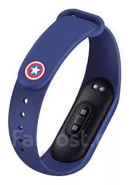 Силиконовый ремешок <b>Marvel</b>/<b>Марвел</b> (Капитан Америка) Xiaomi ...