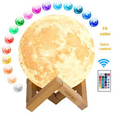 HOKEKI <b>Moon lamp</b>, <b>3D Print</b> LED Moon Light Lamp Moon Light