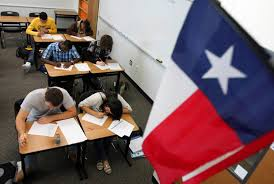 how the texas testing bubble popped part dallas morning news students write an english essay during a practice exam at lone star high school in frisco