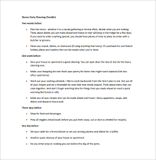 dinner party planning checklist free pdf template download event planning contract templates