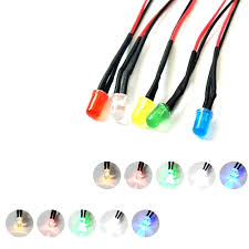 <b>10pcs</b> 3mm Red <b>Flash Flashing</b> Blink 9V <b>12V</b> DC Pre-Wired Water ...