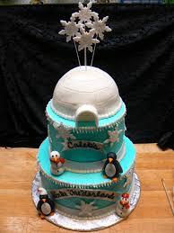 Decorated Birthday Cakes Snowflake Winter Themed Birthday Cakes Birthday Cakes Cake