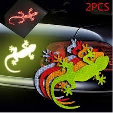 2Pcs Car Decals stickers Gecko Car 3d Reflective Stickers ... - Vova