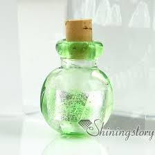 glass vial for pendant necklace miniature hand blown glass bottle charms jewellery empty vial necklace design blown glass bottle pendant