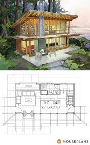Modern cabin home plan by Washington Architects Brachvogel and    Modern cabin home plan by Washington Architects Brachvogel and Corosso  sft Houseplans com