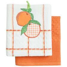 <b>Набор полотенец</b> вафельных Bonita Апельсин 45*70см, 2шт ...