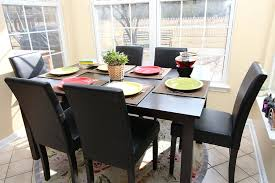 dining room round table and chairs  pc espresso leather brown  person table and chairs brown dining dinet
