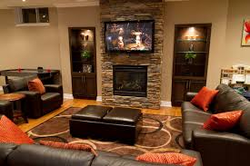 lawn modern decor built  living room living room with tv above fireplace decorating ideas brea