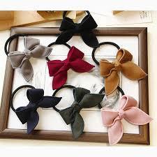 Sale Girl Elastic <b>Hair</b> Bands Large Bowknot <b>Hair</b> Ties Ribbon <b>Bow</b> ...