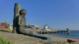 rachel carson and me new leaf the statue of rachel carson over looking woods hole