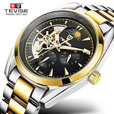 Original <b>TEVISE</b> Men <b>Watch Automatic Mechanical</b> Top Brand ...