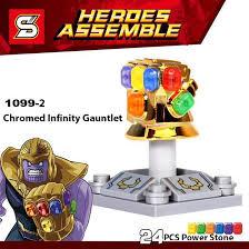 Single Sale Chromed Infinity Gauntlet With <b>24Pcs</b> Power Stones ...
