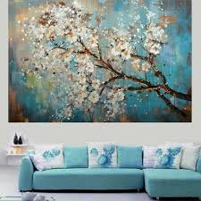 <b>Handpainted Modern</b> Abstract Flower Canvas Art Decoration of Oil ...
