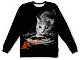 """Свитшот мужской с полной запечаткой """"Кот и <b>Рыбки</b>"""" #1147516 ..."""