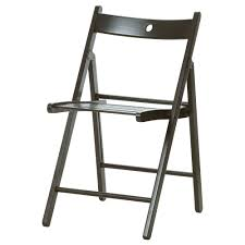 terje folding chair black tested for 243 lb width 17 38 black furniture ikea