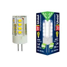 Светодиодная <b>лампа LED</b>-<b>JC</b>-<b>220</b>/<b>3W</b>/<b>4000K</b>/<b>G4</b>/<b>CL GLZ09TR</b> ...