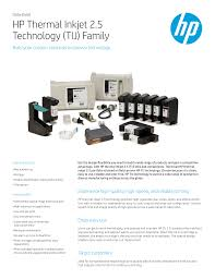 <b>HP</b> Thermal Inkjet 2.5 Technology (TIJ) Family | manualzz.com