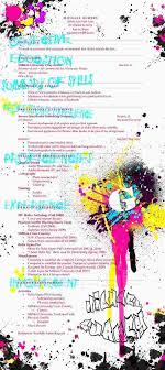 artistic r eacute sum eacute s to boost your skills graphic resume by supercaliskier